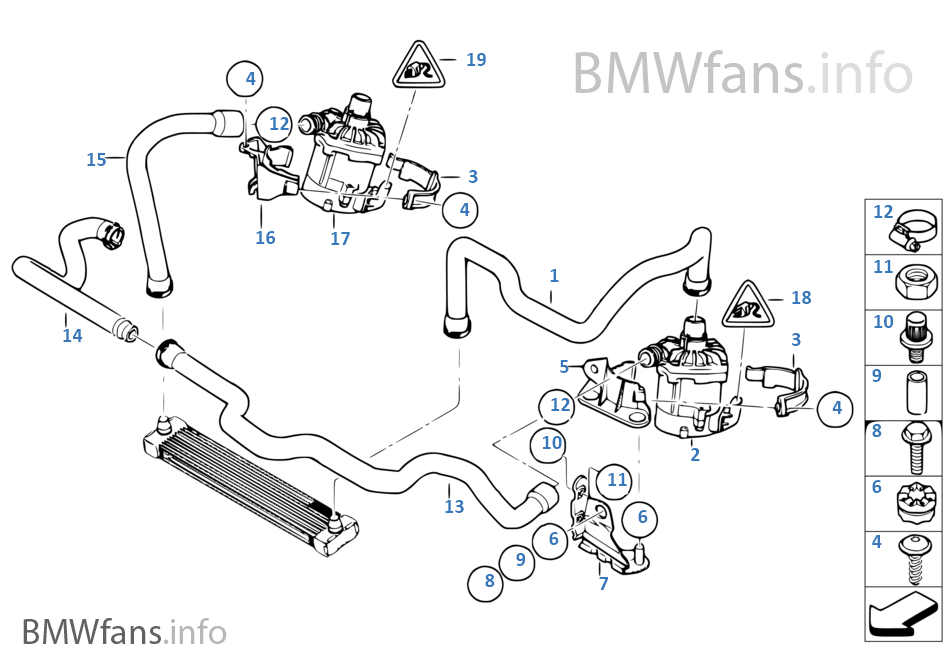 bmw 1 series auxiliary water pump