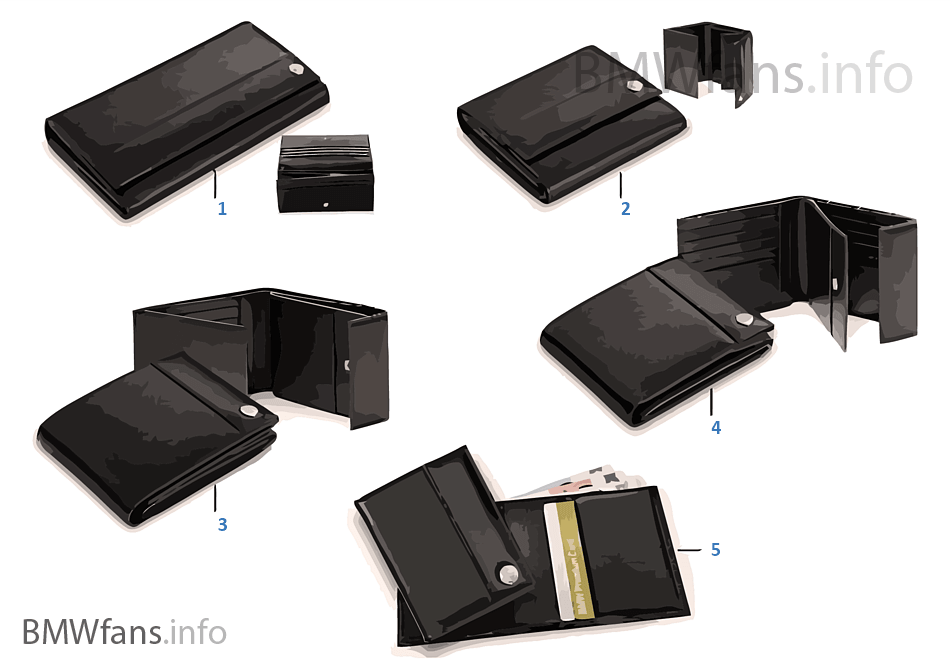 bmw collection wallets 2012 13 bmw accessories catalog. Black Bedroom Furniture Sets. Home Design Ideas