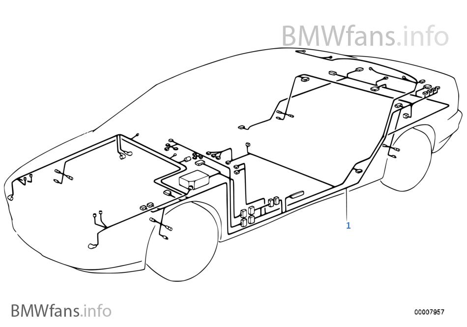 e38 bmw wiring harness diagram