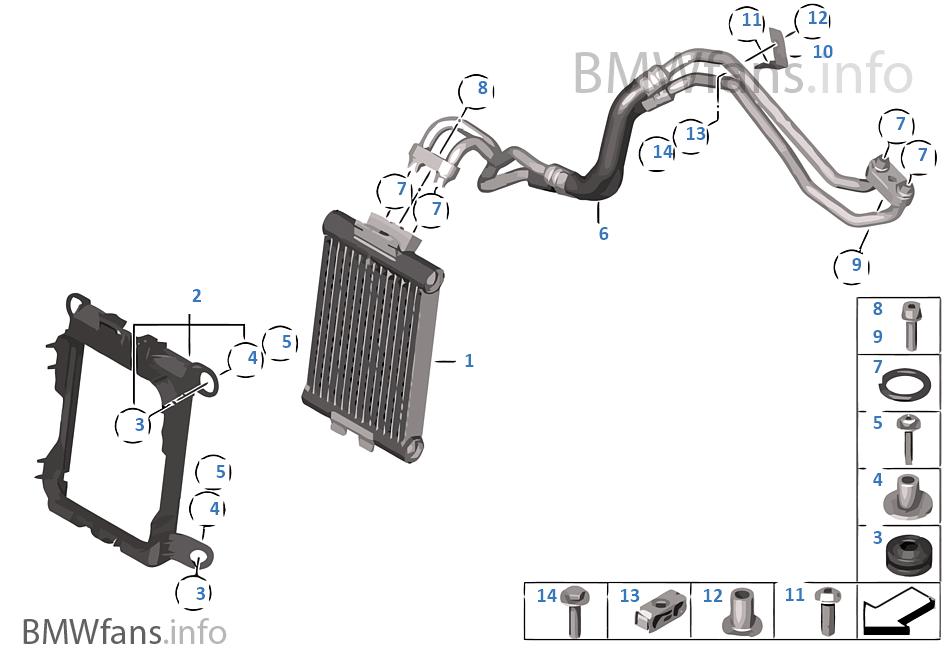 engine oil cooler  oil cooler line
