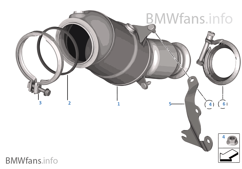 Engine-side catalytic converter | BMW 3' F30 328i N26 USA