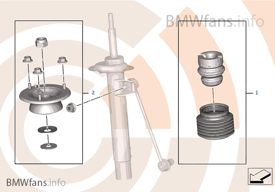 Kit de reparação Amortecedor dianteiro