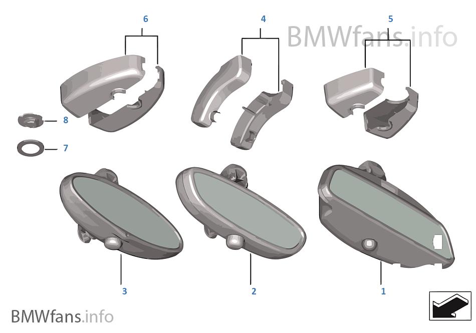R troviseur int rieur bmw z4 e85 z4 n52 l 39 europe for Retroviseur interieur