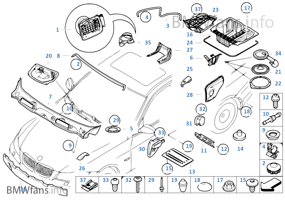 bmw 325i body parts diagram