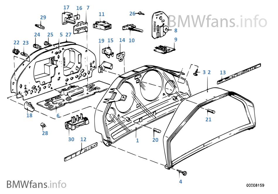Instrumentenkombination Einzelteile Bmw 3 E30 325i M20