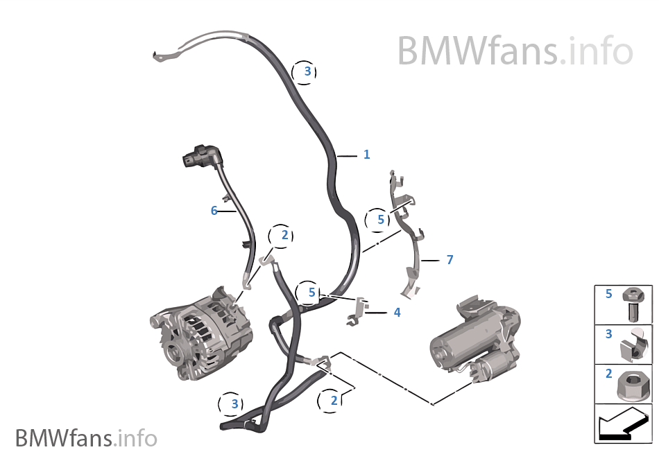 Battery Cable Cable Starter Bmw X5 E70 X5 M S63 Europe