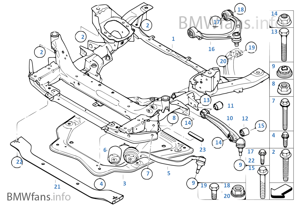 2002 bmw x5 front suspension diagram