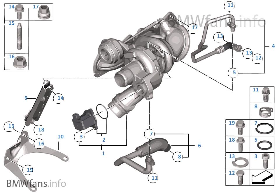 turbo charger with lubrication bmw 1\u0027 f20 118i n13 europeturbo charger with lubrication bmw 118i f20 5 doors europe n13