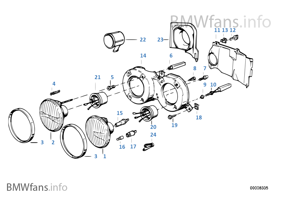 single parts f conventional headlight