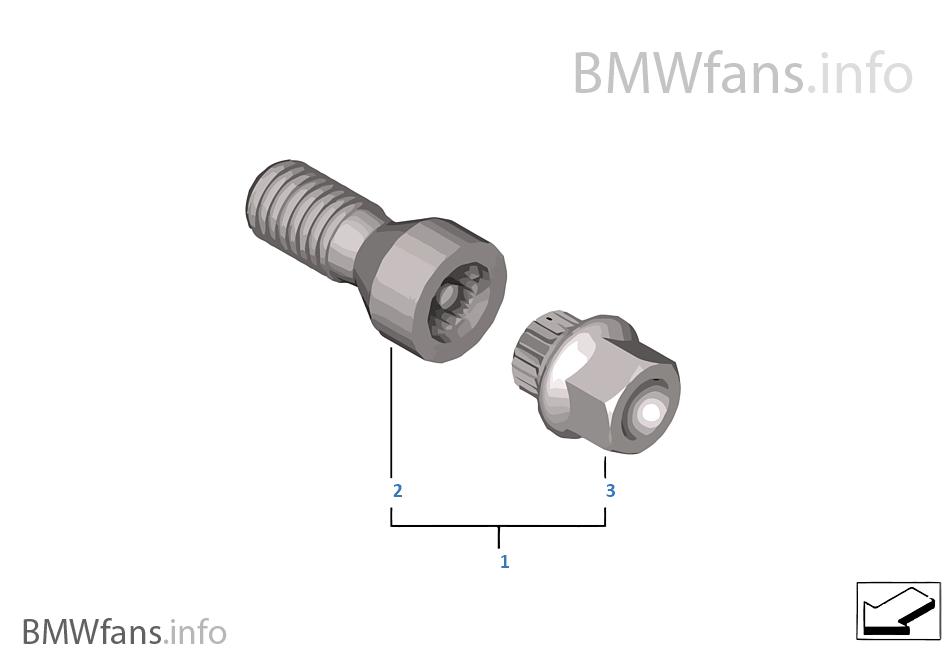 車輪螺栓鎖銷 帶接口裝置