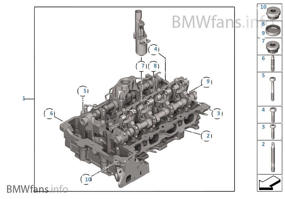 Cylinder Head | BMW 3' F30 328i N20 RussiaBMWfans.info
