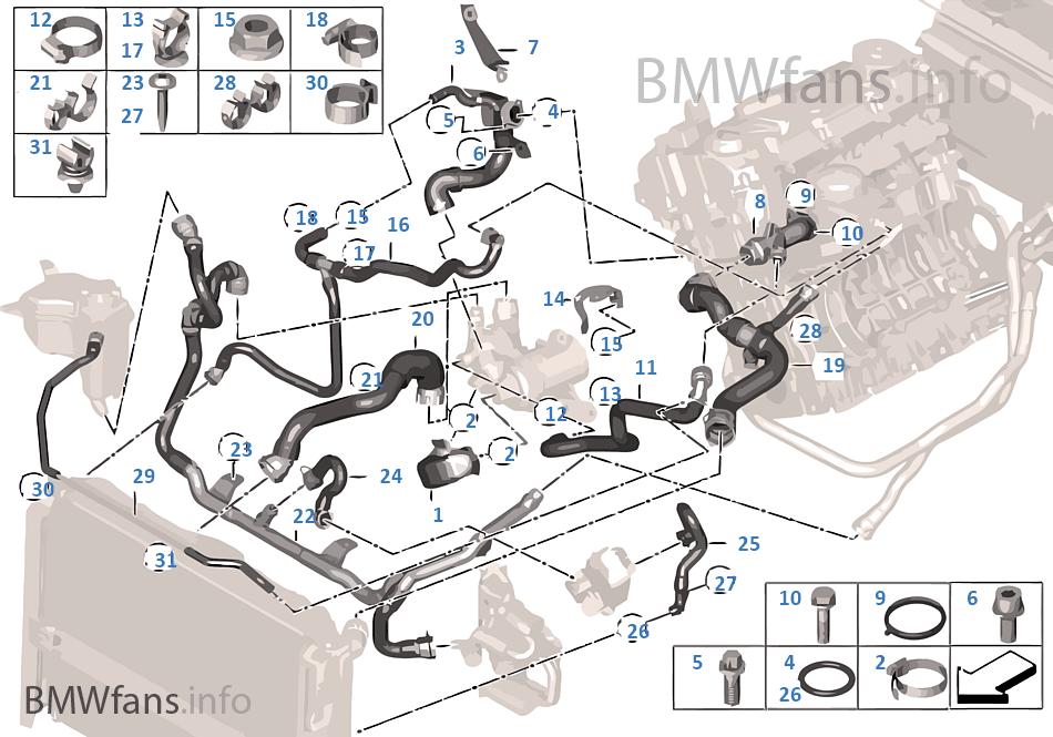 2008 Bmw 335i Coolant Hose Diagram