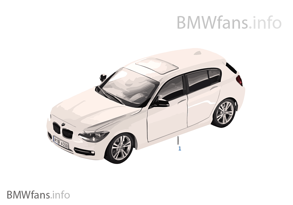 bmw miniatures bmw 1 series 13 14 bmw accessories catalog. Black Bedroom Furniture Sets. Home Design Ideas
