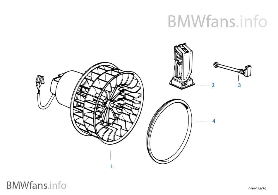 Electric parts for heater | BMW 3' E36 325i M50 Europe