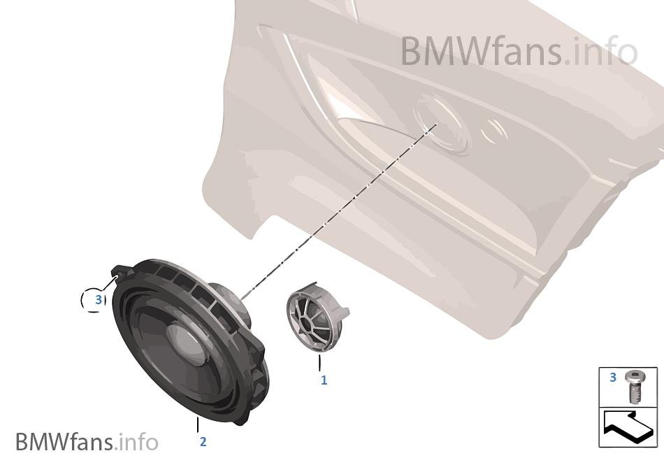 Einzelteile Lautsprecher hinten