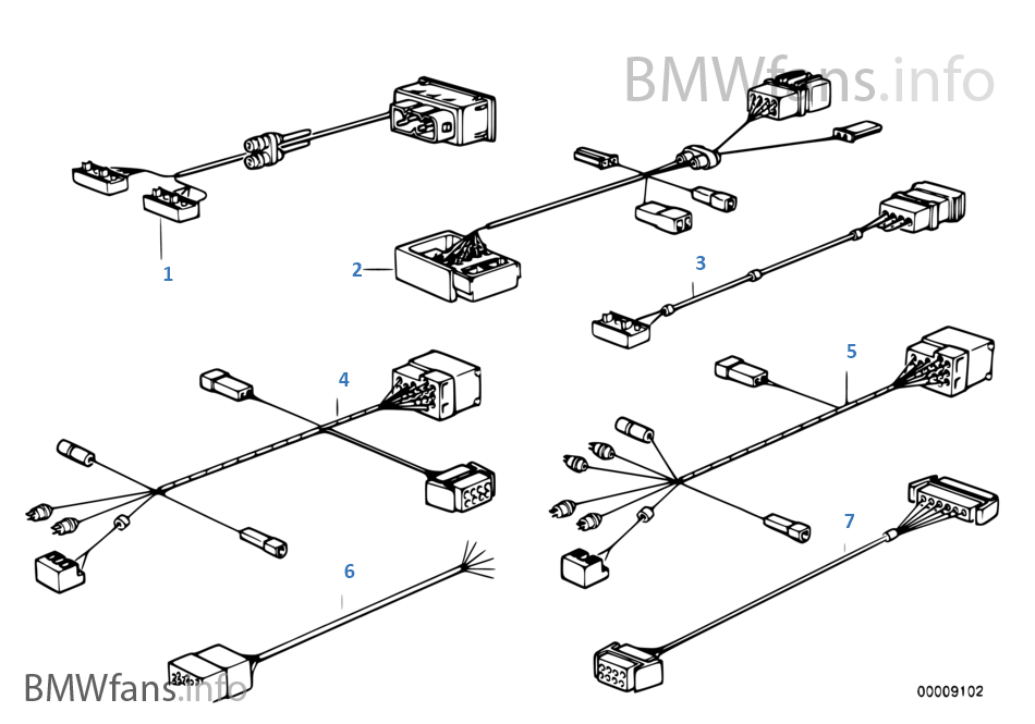 adapter lead bmw 3 39 e30 325i m20 europe. Black Bedroom Furniture Sets. Home Design Ideas