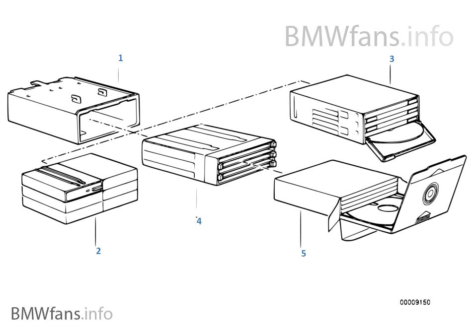 グローブボックス内のCD/カセットボックス