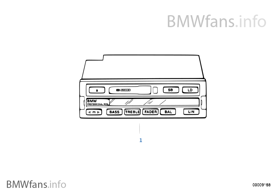 ラジオ BMW Professional RDS