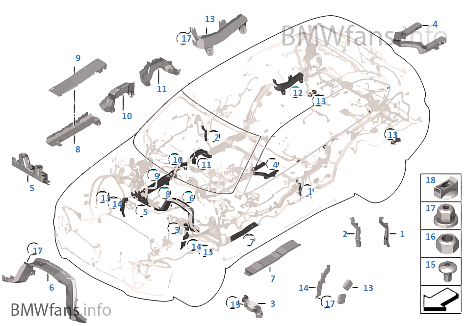 Wiring harness covers/cable ducts | BMW X5 F15 X5 30dX N57N RussiaBMWfans.info