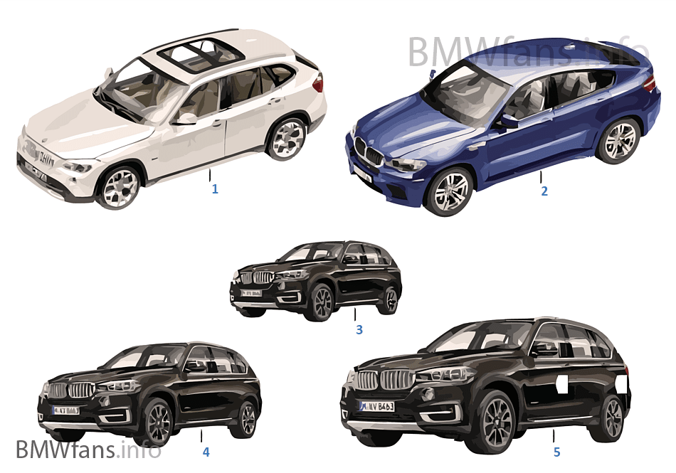 bmw miniatures bmw x 13 14 bmw accessories catalog. Black Bedroom Furniture Sets. Home Design Ideas