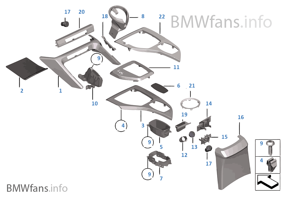 pi ces accol es console centrale bmw x1 e84 x1 18d n47n l 39 europe. Black Bedroom Furniture Sets. Home Design Ideas