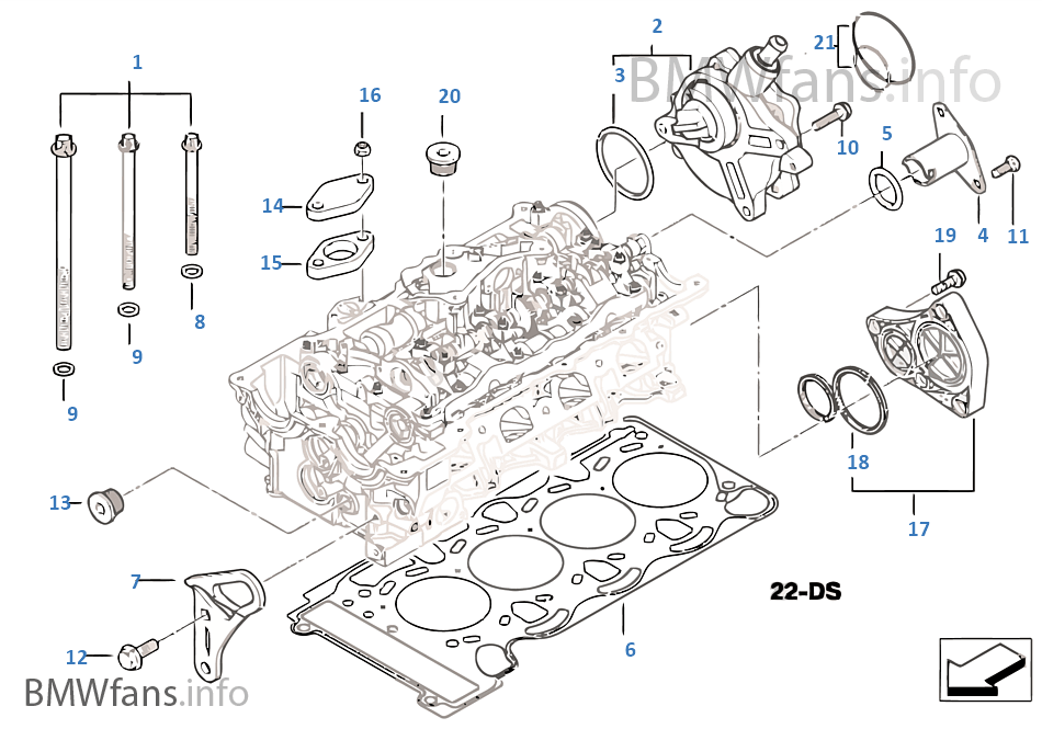 Cylinder Head Attached Parts Bmw 3 E46 318ci N42 Europe