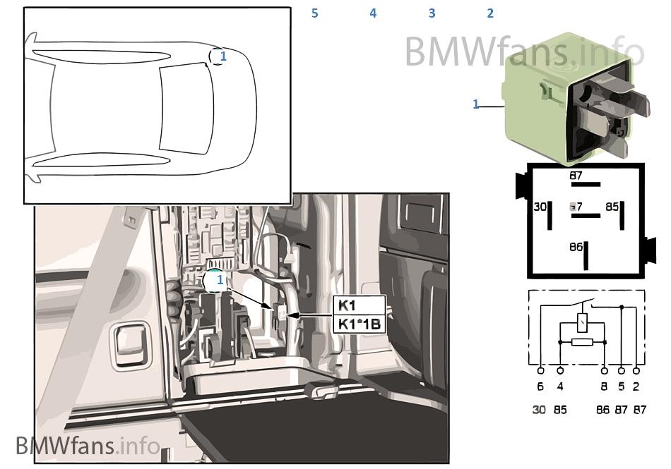 F15 X5 Fuse Box : Relay compressor for air suspension k bmw f