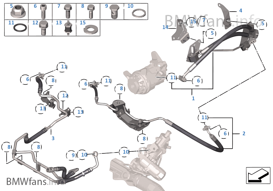 Oil lines/Adaptive Drive+Active Steering | BMW X5 F15 X5