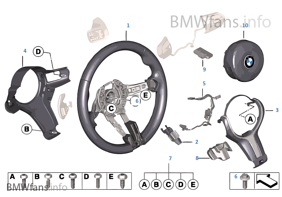 M sportstuur airbag leder