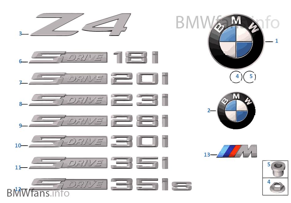 Embleme Schriftz 252 Ge Bmw Z4 E89 Z4 30i N52n Europa