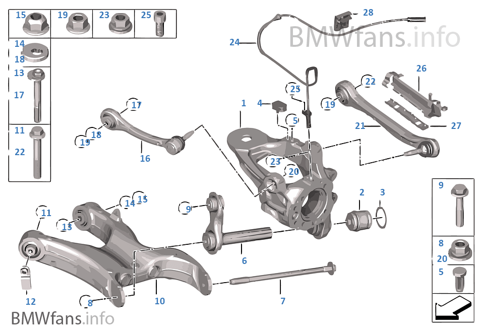 bmw x5 rear suspension parts diagram
