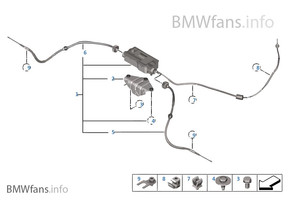 OEM BMW X5 X6 F15 F16 ELECTRONIC PARKING BRAKE ACTUATOR EPB 6864546  34436864546