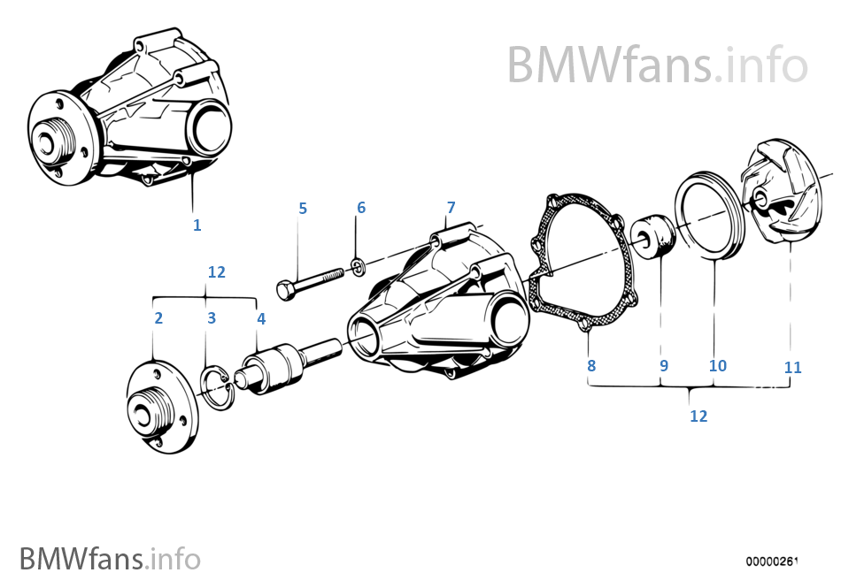 cooling system water pump bmw 7' e32 735i m30 south africa cadillac xlr engine diagram cooling system water pump