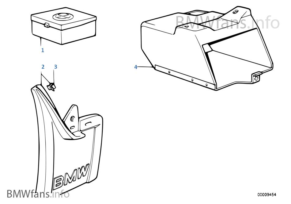 マッド ガード/スペアランプ ボックス