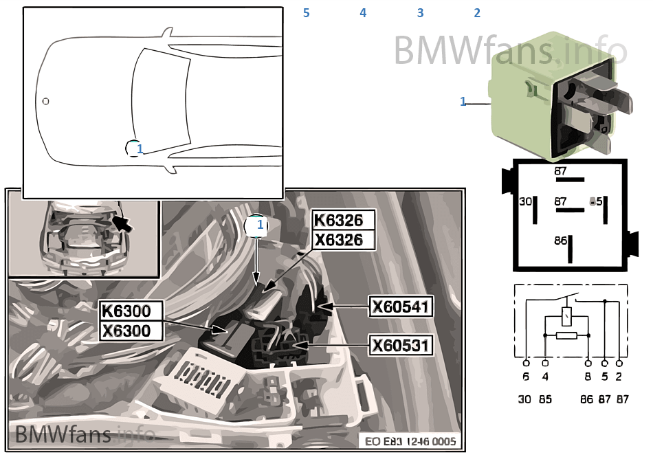relay relief terminal 15 k6326 bmw x3 e83 x3 n46. Black Bedroom Furniture Sets. Home Design Ideas