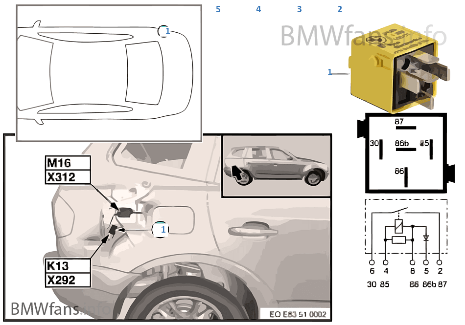 2005 Bmw X3 Fuel Pump Relay Location - wiring diagrams image free ...