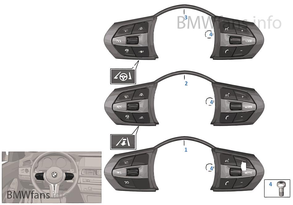 schalter lenkrad multifunktion m sport bmw x5 f15 x5. Black Bedroom Furniture Sets. Home Design Ideas