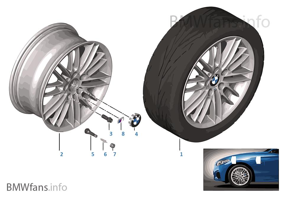 bmw la wheel m double spoke 460 17 39 39 bmw 1 39 f20 116i n13 europe. Black Bedroom Furniture Sets. Home Design Ideas