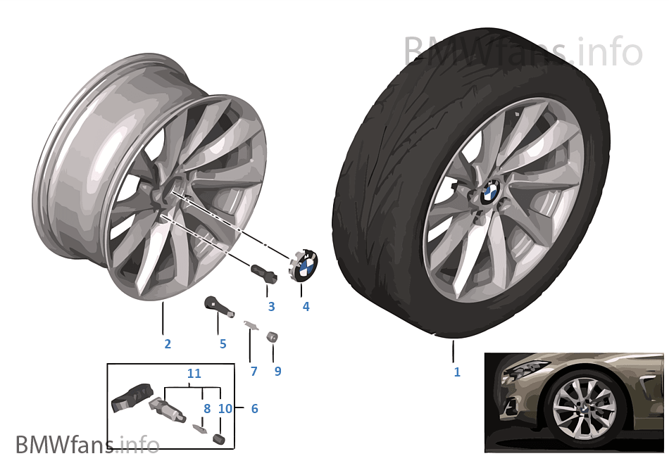 BMW LA wheel Turbine Styling 415 — 18''
