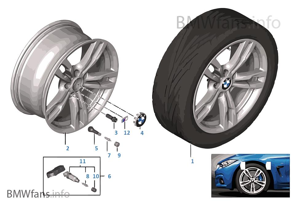 BMW LA wheel M Double Spoke 441 — 18''
