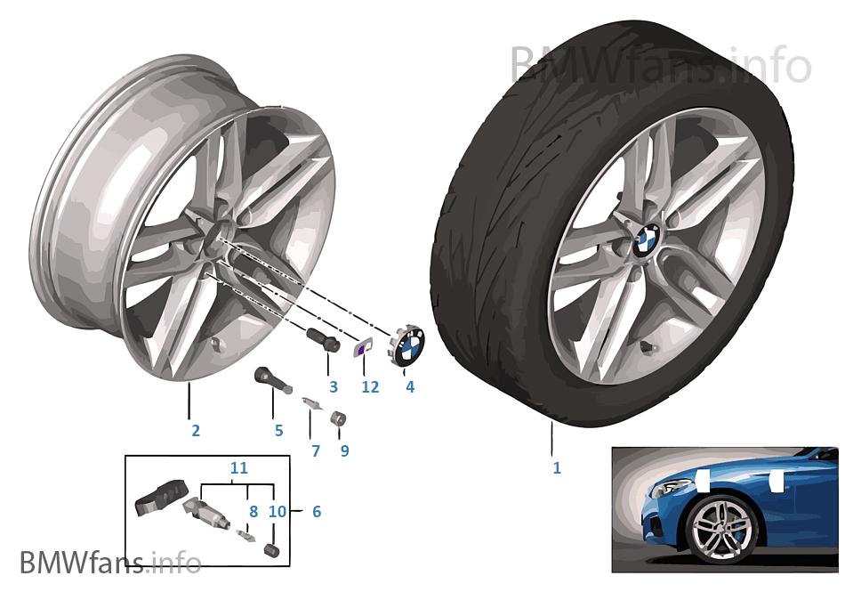 BMW LA wheel M Double Spoke 461 — 18''