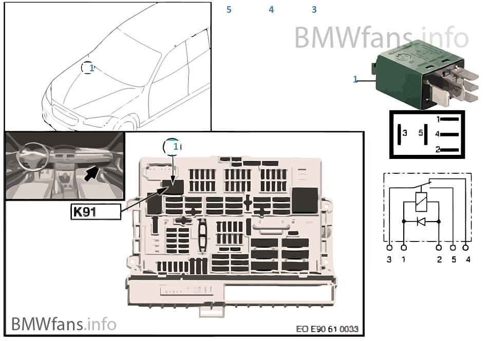 relais heckscheibenwischer k91 bmw x1 e84 x1 18dx n47n. Black Bedroom Furniture Sets. Home Design Ideas