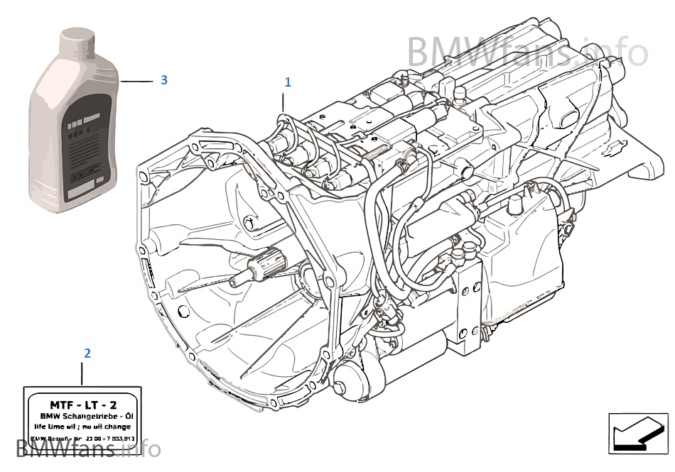 bmw manual transmission diagram