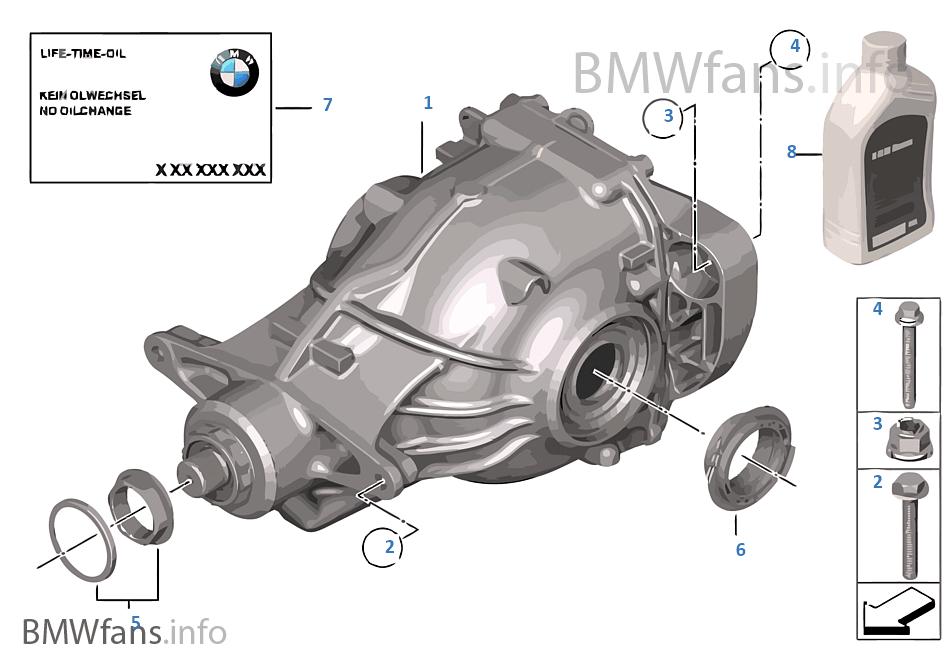 Final drive, input/output, 4-wheel   BMW X3 F25 X3 35iX N55 USA