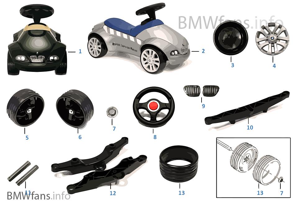 bmw ersatzteile baby racer ii bmw zubeh rkatalog. Black Bedroom Furniture Sets. Home Design Ideas