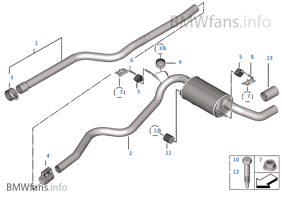 Exhaust System  Rear