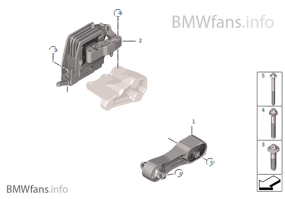 Engine Suspension | BMW X1 F48 X1 28iX B46 USA