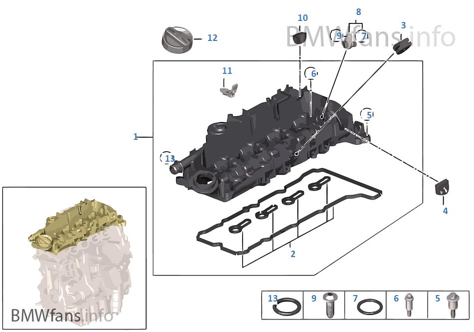 氣缸蓋罩/安裝件