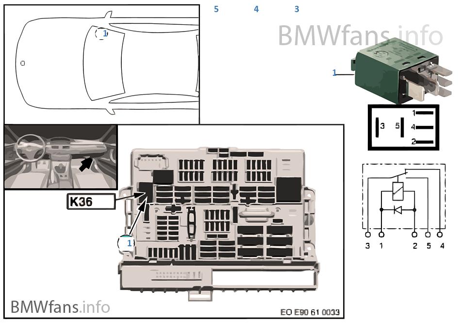 relay for wiper 1 k36 bmw z4 e89 z4 30i n52n europe. Black Bedroom Furniture Sets. Home Design Ideas
