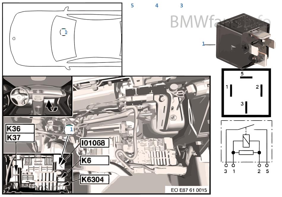 2008 bmw 328i fuse box location relay terminal 30g i01068    bmw    3  e90 320i n46 europe  relay terminal 30g i01068    bmw    3  e90 320i n46 europe